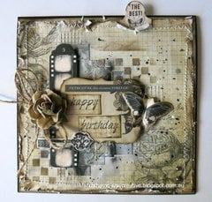 Mixed Media Birthday Card