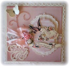 Baby Girl Card and Box