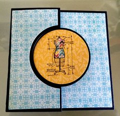 Flip Card - Tim Holtz Mini Blueprints