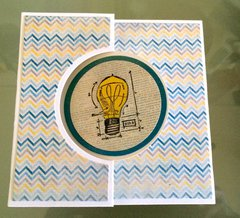 Flip Card - Tim Holtz Mini Blueprints