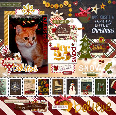 Waiting 4 Santa Paws *Simple Stories Cozy Christmas*