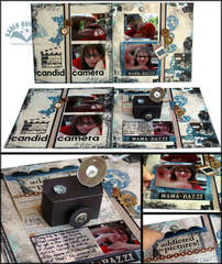 Candid Camera Pop-up Layout