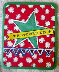 Star Birthday Card
