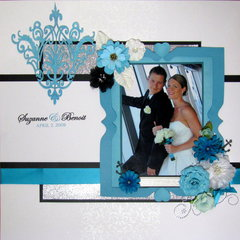 Teal Blue Wedding Album Cover