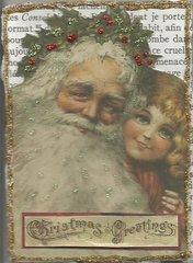 Santa on bookpage ATC