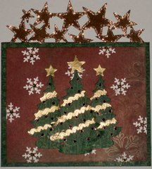 Christmas card with stars and glitter