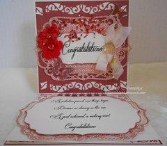 Congratulations easel card.