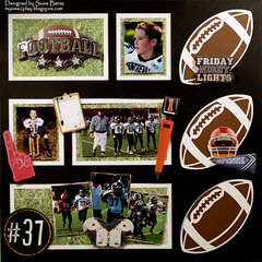 Football Layout  **Want2Scrap**