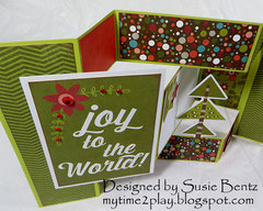 Christmas Tri Shutter Card *Want2Scrap*