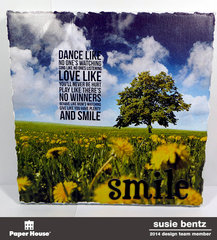Home Dec Canvas - Dance, Love, Smile   *Paper House*