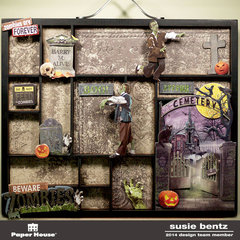 Beware Zombies!  Halloween Decor