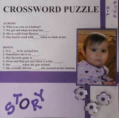 Crossword puzzle- Left Page