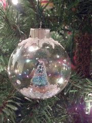 Glass ball ornament 2013 xmas