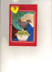 rooster iris fold card