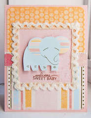 Welcome Sweet Baby card