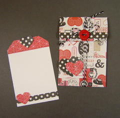 Valentine tag and envelope