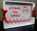 Cookies and Milk for Santa Tray