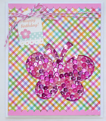Doodlebug Happy Birthday card
