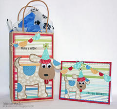 *Imaginisce* Good Dog Birthday doggie bag and card set
