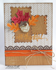 *Imaginisce* Be Thankful card