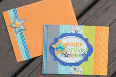 Doodlebug Happy Birthday card w/envelope