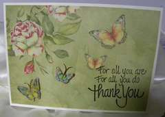 Thank You Card, simple