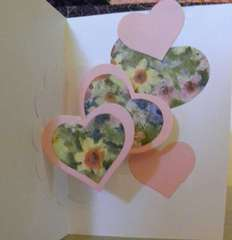 Inside of Romantic Card