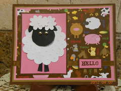 Lamb Hello Card