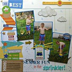 (cool) summer fun in the sprinkler