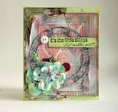 Mixed media Card **Shimmerz**