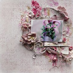 Flowers **Scrapbook Diaries** and Maja Design