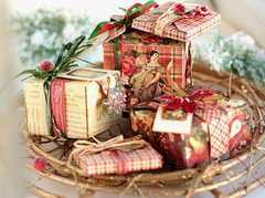 Gift Boxes **Swirlydoos December Project Kit**