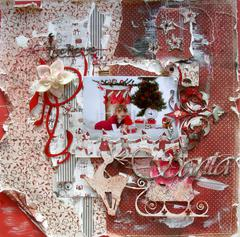 I believe in Santa **Maja Design** and **2Crafty Chipboard**