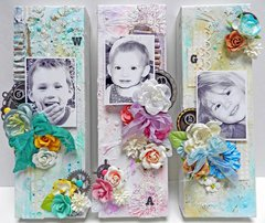 Canvas Trio *NEW* Prima Elementals & Mechanicals by Finnabair!