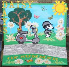 Daisy Days of Summer Snoopy BDay Easel Card