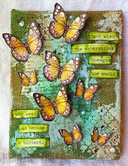 Altered Burlap Canvas (Hero Art Blog Hop)