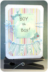 Boy Oh Boy - Welcome Baby Card