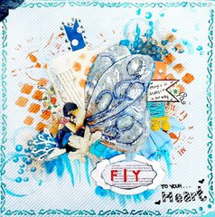 Fly to you heart  CSI #73 (MIX-MEDIA WING TUTORIAL)