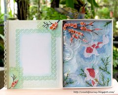 Cheery Blossoms and Koi Spring Card