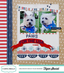 Paws for the USA layout