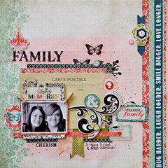 Family layout **Carta Bella**