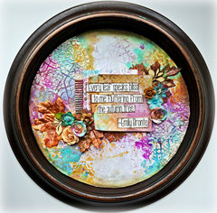 Autumnal Bliss Altered Clock/Shadowbox