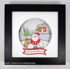 Christmas Snow Globe Shadow Box