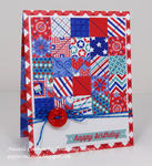 Red, White, and Blue Quilt card