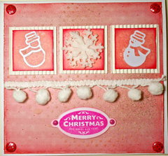 Merry Christmas Girly Card