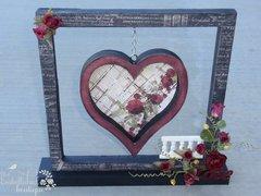 Floating heart frame