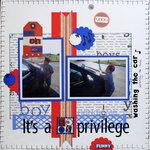 It's a boys privilege (washing the car)