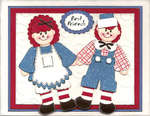 Raggedy Ann & Andy Punch Art Card