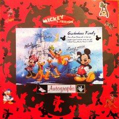 Disney autographed postcard