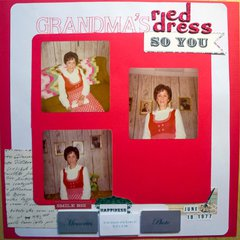 Grandma's Red Dress